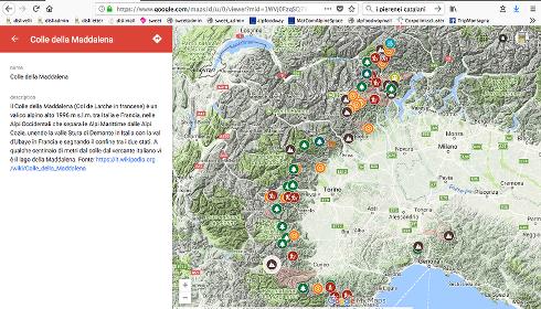 La mappa interattiva dei Luoghi invernali