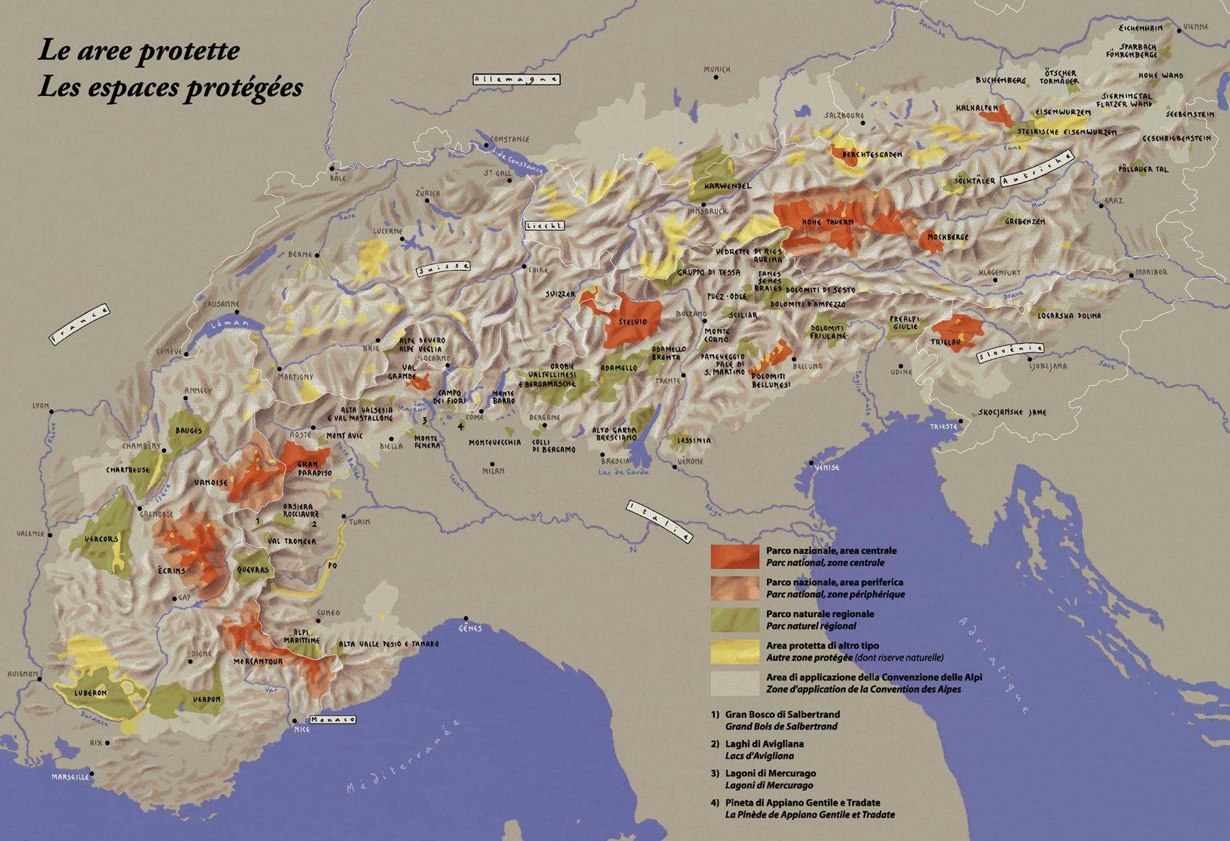 Cartina Montagne Nord Italia.Disegnare Le Alpi